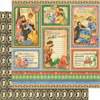 Graphic 45 - Little Women Collection - 12 x 12 Double Sided Paper - Something Splendid