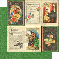 Graphic 45 - Little Women Collection - 12 x 12 Double Sided Paper - Literary Lessons