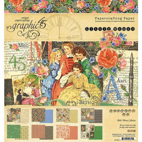Graphic 45 - Little Women Collection - 8 x 8 Paper Pad