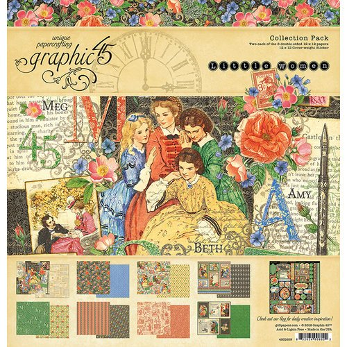 Graphic 45 - Little Women Collection - 12 x 12 Collection Kit