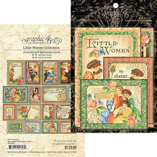 Graphic 45 - Little Women Collection - Ephemera Cards