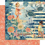 Graphic 45 - Sun Kissed Collection - 12 x 12 Double Sided Paper - Sun Kissed