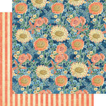 Graphic 45 - Sun Kissed Collection - 12 x 12 Double Sided Paper - Floating Floral