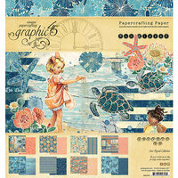Graphic 45 - Sun Kissed Collection - 8 x 8 Paper Pad