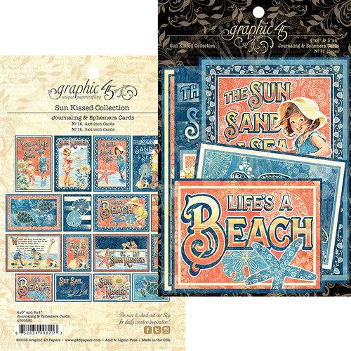 Graphic 45 - Sun Kissed Collection - Ephemera Cards