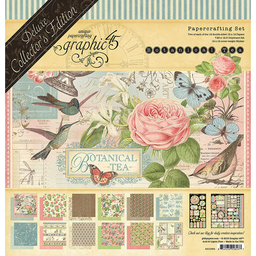 Graphic 45 - Botanical Tea Collection - Deluxe Collector's Edition - 12 x 12 Papercrafting Kit