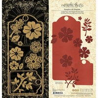Graphic 45 - Staples Embellishments Collection - Metal Dies - Large Tag, ATC Tag and Flower