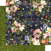 Graphic 45 - Floral Shoppe Collection - 12 x 12 Double Sided Paper - Midnight Medley