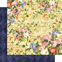 Graphic 45 - Floral Shoppe Collection - 12 x 12 Double Sided Paper - Sunlit Medley