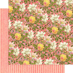 Graphic 45 - Floral Shoppe Collection - 12 x 12 Double Sided Paper - Pink Lilies