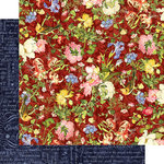 Graphic 45 - Floral Shoppe Collection - 12 x 12 Double Sided Paper - Scarlet Serenity