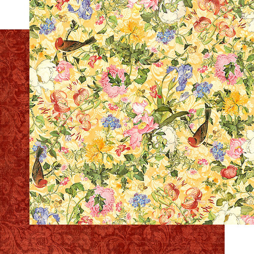 Graphic 45 - Floral Shoppe Collection - 12 x 12 Double Sided Paper - Golden Serenity