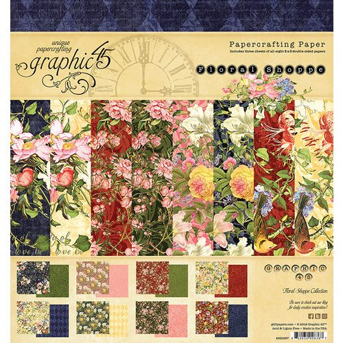 Graphic 45 - Floral Shoppe Collection - 8 x 8 Paper Pad