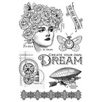Graphic 45 - Imagine Collection - Clear Acrylic Stamps - Dream