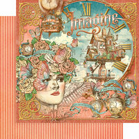 Graphic 45 - Imagine Collection - 12 x 12 Double Sided Paper - Imagine