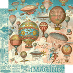 Graphic 45 - Imagine Collection - 12 x 12 Double Sided Paper - Up and Away