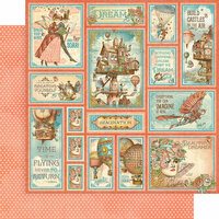Graphic 45 - Imagine Collection - 12 x 12 Double Sided Paper - Castles in the Air