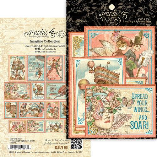 Graphic 45 - Imagine Collection - Ephemera Cards