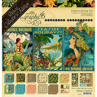Graphic 45 - Tropical Travelogue Collection - Deluxe Collector's Edition - 12 x 12 Papercrafting Kit