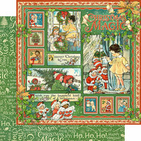 Graphic 45 - Christmas Magic Collection - 12 x 12 Double Sided Paper - Christmas Magic