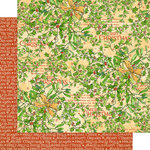 Graphic 45 - Christmas Magic Collection - 12 x 12 Double Sided Paper - Happy Holly Days