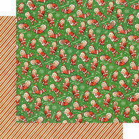 Graphic 45 - Christmas Magic Collection - 12 x 12 Double Sided Paper - Santa's Little Helpers