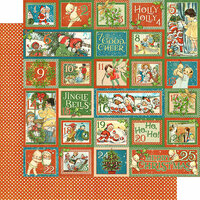 Graphic 45 - Christmas Magic Collection - 12 x 12 Double Sided Paper - Countdown Surprise