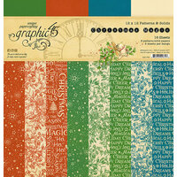 Graphic 45 - Christmas Magic Collection - 12 x 12 Patterns and Solids Paper Pad