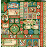 Graphic 45 - Christmas Magic Collection - 12 x 12 Cardstock Stickers