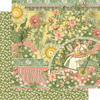 Graphic 45 - Garden Goddess Collection - 12 x 12 Double Sided Paper - Garden Goddess