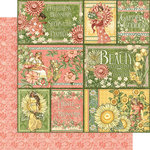 Graphic 45 - Garden Goddess Collection - 12 x 12 Double Sided Paper - Shine from Within