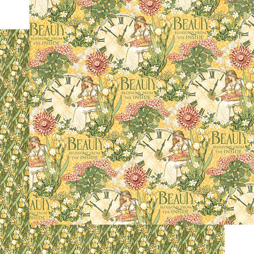Graphic 45 - Garden Goddess Collection - 12 x 12 Double Sided Paper - Love Grown Here