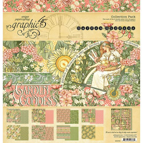 Graphic 45 - Garden Goddess Collection - 12 x 12 Collection Pack
