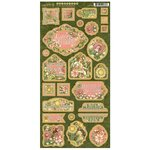 Graphic 45 - Garden Goddess Collection - Die Cut Chipboard Tags