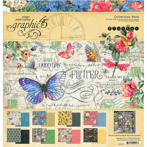 Graphic 45 - Flutter Collection - 12 x 12 Collection Pack