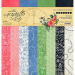 Graphic 45 - Flutter Collection - 12 x 12 Patterns and Solids Paper Pad