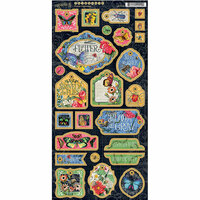 Graphic 45 - Flutter Collection - Die Cut Chipboard Tags