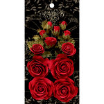 Graphic 45 - Rose Bouquet Collection - Floral Embellishments - Triumphant Red