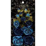 Graphic 45 - Rose Bouquet Collection - Floral Embellishments - Bon Voyage and French Blue