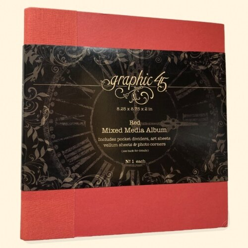 Graphic 45 - Staples Embellishments Collection - Mixed Media Album - Red