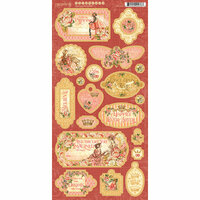 Graphic 45 - Princess Collection - Die Cut Chipboard Tags