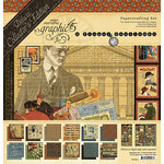Graphic 45 - A Proper Gentleman Collection - Deluxe Collector's Edition - 12 x 12 Papercrafting Kit