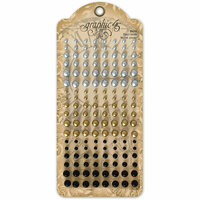 Graphic 45 - Staples Embellishments Collection - Matte Pearl Gems