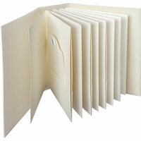 Graphic 45 - Staples Embellishments Collection - ATC Rectangle Tag and Pocket Album - Ivory
