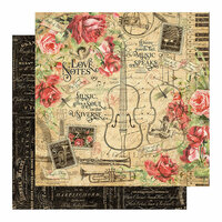 Graphic 45 - Love Notes Collection - 12 x 12 Double Sided Paper - Love Notes