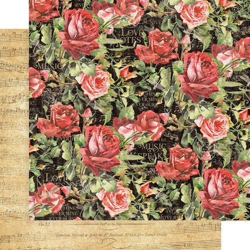 Graphic 45 - Love Notes Collection - 12 x 12 Double Sided Paper - Floral Symphony
