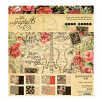 Graphic 45 - Love Notes Collection - 8 x 8 Paper Pad