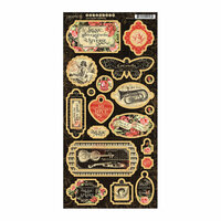 Graphic 45 - Love Notes Collection - Die Cut Chipboard Tags
