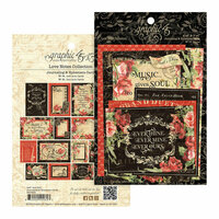 Graphic 45 - Love Notes Collection - Ephemera Cards