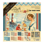 Graphic 45 - By the Sea Collection - Deluxe Collector's Edition - 12 x 12 Papercrafting Kit